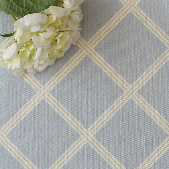 Diamond Trellis Fabric - Serenity with Linen