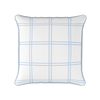 Modern Check blue piped cushion