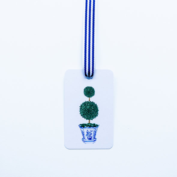 Double Topiary Tree Gift Tag