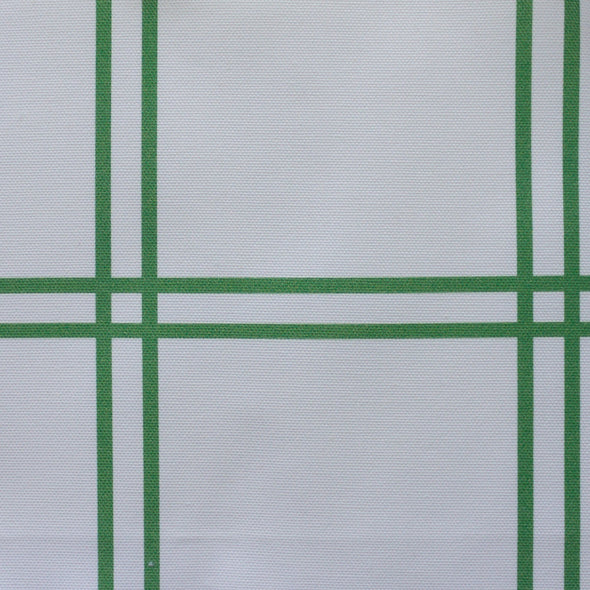 double plaid check fabric emerald green