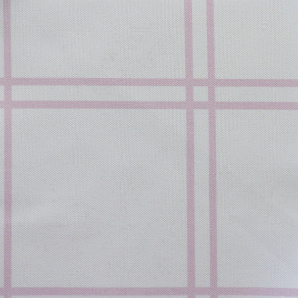 Double window pane check fabric peony pink