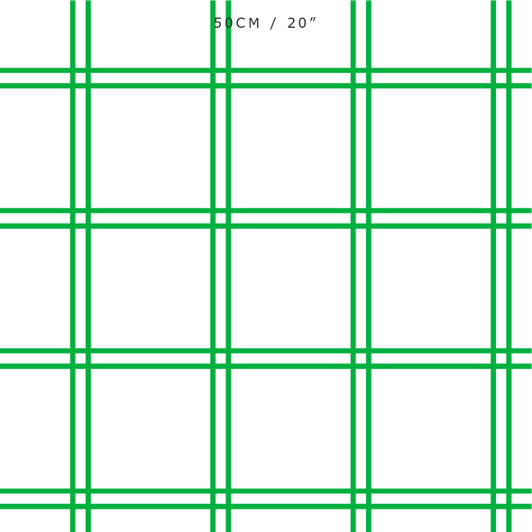 Double Window Pane Check Fabric - Emerald