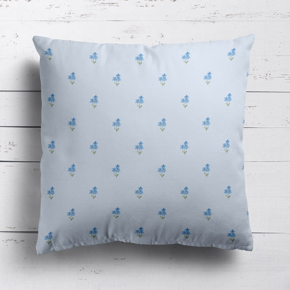 Forget me not serenity blue cushion