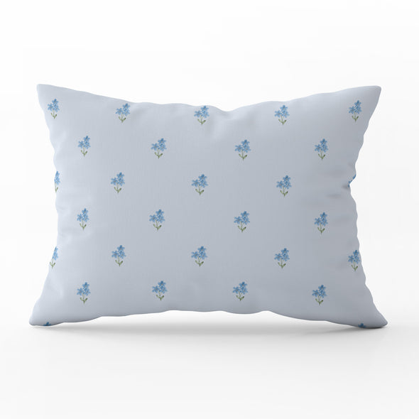 forget me not flower rectangle cushion