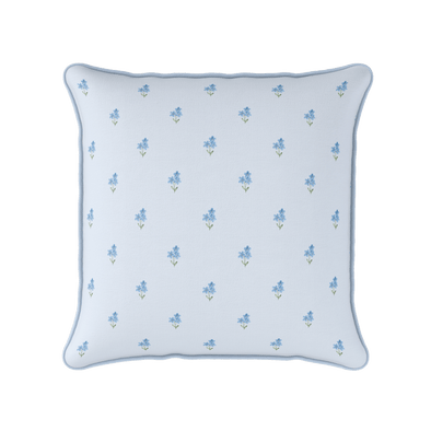 Forget Me Not Square Piped Cushion