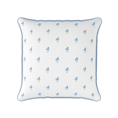 Forget Me Not piped Cushion