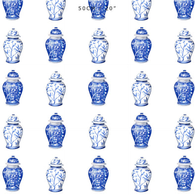 Chinoiserie Ginger Jars fabric