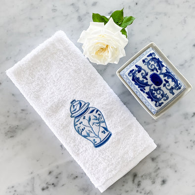 Ginger Jar Chinoiserie Hand Towel