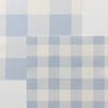 gingham check cotton linen fabric cornflower blue