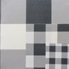 Jumbo gingham check cotton linen fabric graphite grey