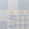 gingham check cotton linen fabric pale blue
