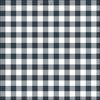 gingham check cotton linen fabric graphite grey