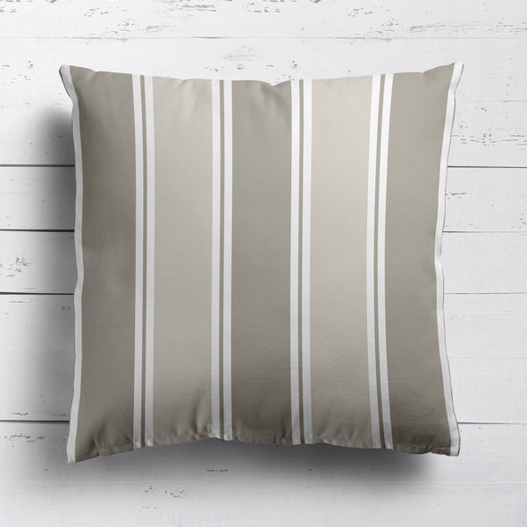 Striped Outdoor Cushion Beige