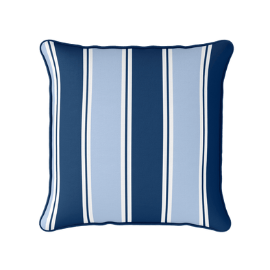 Striped Outdoor Cushion Blue