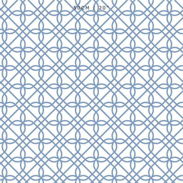 trellis pattern fabric blue