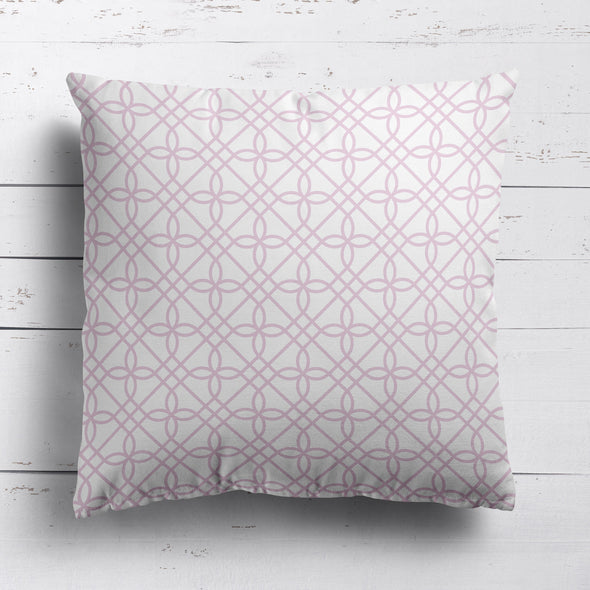 trellis pattern fabric pale pink