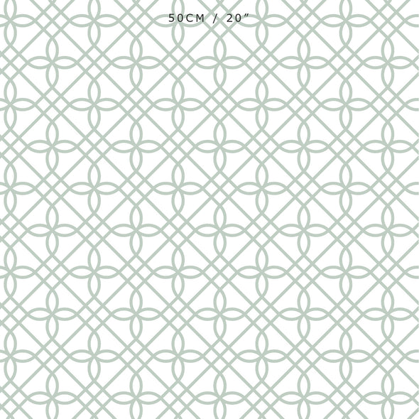 Greek Gate Fabric - Eau De Nil