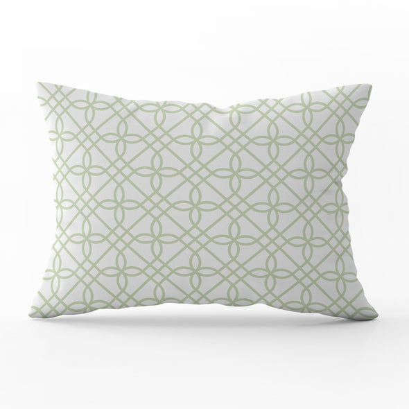 Greek Gate trellis elderflower rectangle cushion