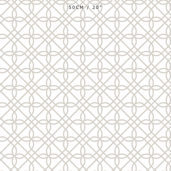 neutral trellis patterned fabric