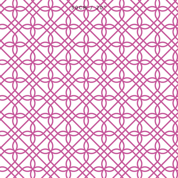 Greek Gate Fabric - Raspberry