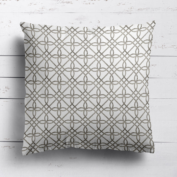 trellis pattern fabric cushion