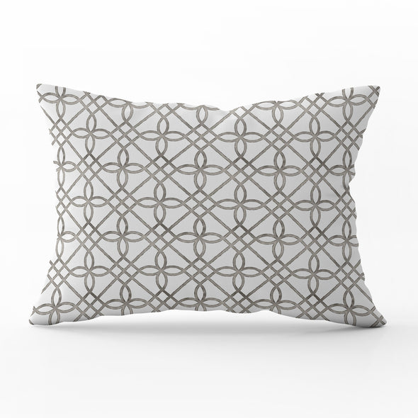 trellis pattern rectangle cushion