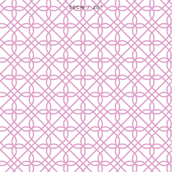 Greek Gate Fabric - Tickled Pink
