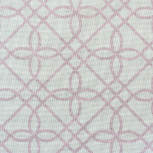 Greek Gate trellis fabric peony pink