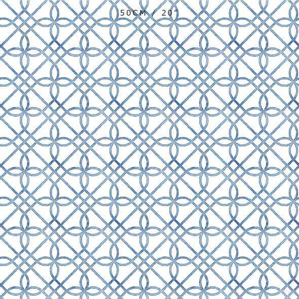 Greek Gate Rustic Fabric - Blues