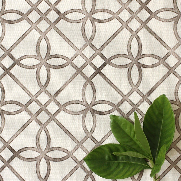 neutrals trellis pattern fabric