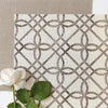 neutral trellis linen fabric
