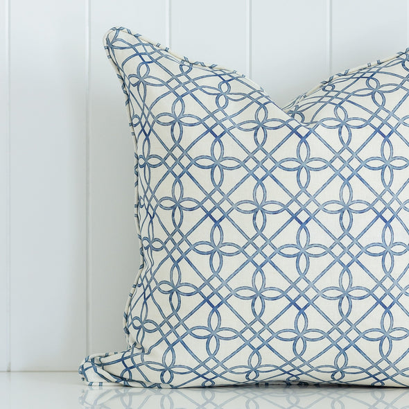 Greek Gate Rustic Trellis Cushion