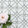 Greek Gate Rustic green trellis fabric