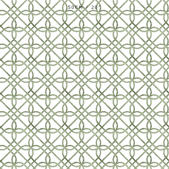 Greek Gate Rustic Fabric - Greens