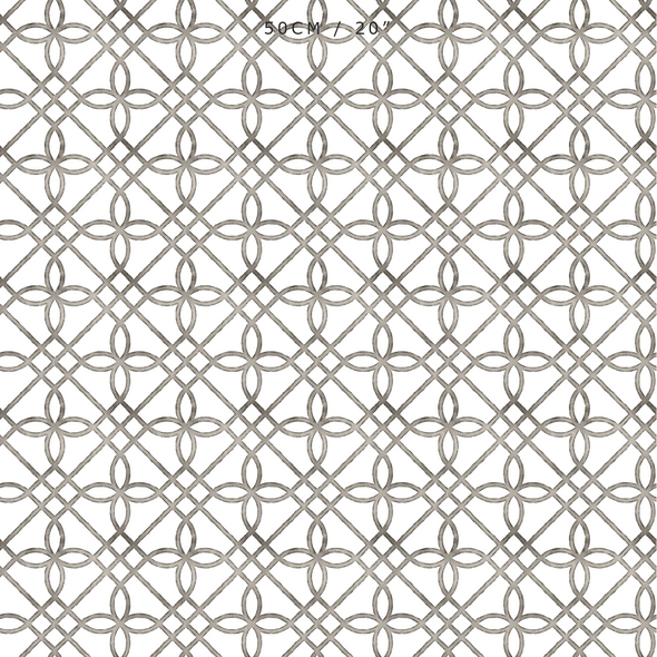trellis pattern neutral coloured fabric