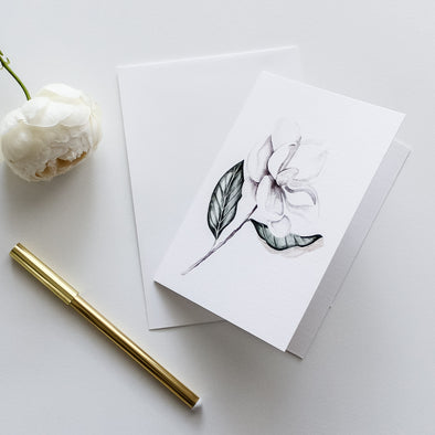 Magnolia Greeting Card Watercolour illustration