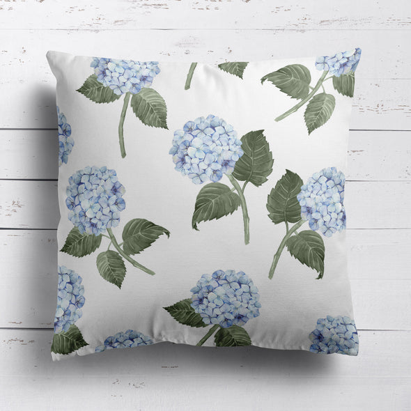 Hydrangea Blue flowers cushion
