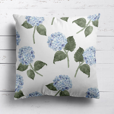 Hydrangea Bloom Blue Custom Cushion