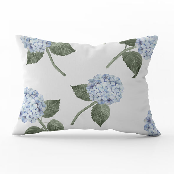 Blue Hydrangea rectangle lumber cushion