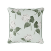 White and green hydrangea flower cushion