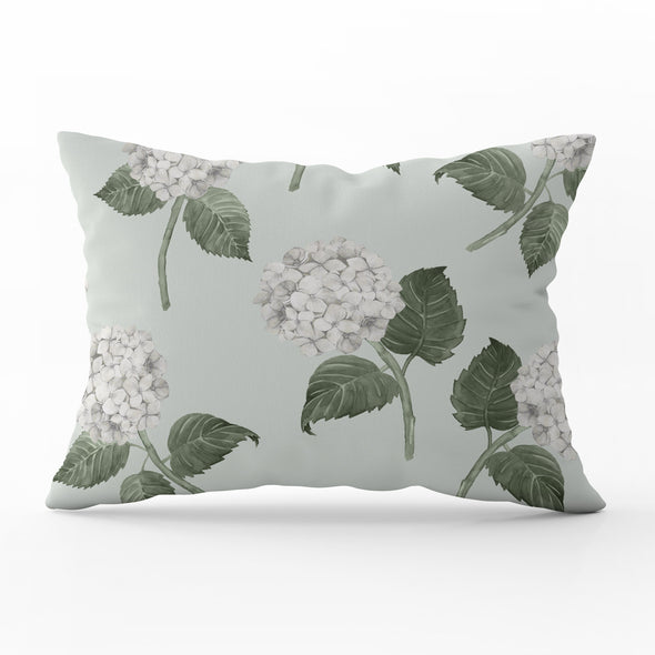 Hydrangea Bloom White Cushion