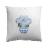 Hydrangea Chinoiserie Plain Square Cushion