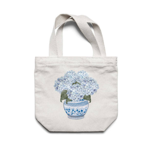 Hydrangea Tote Bag Chinoiserie Pot