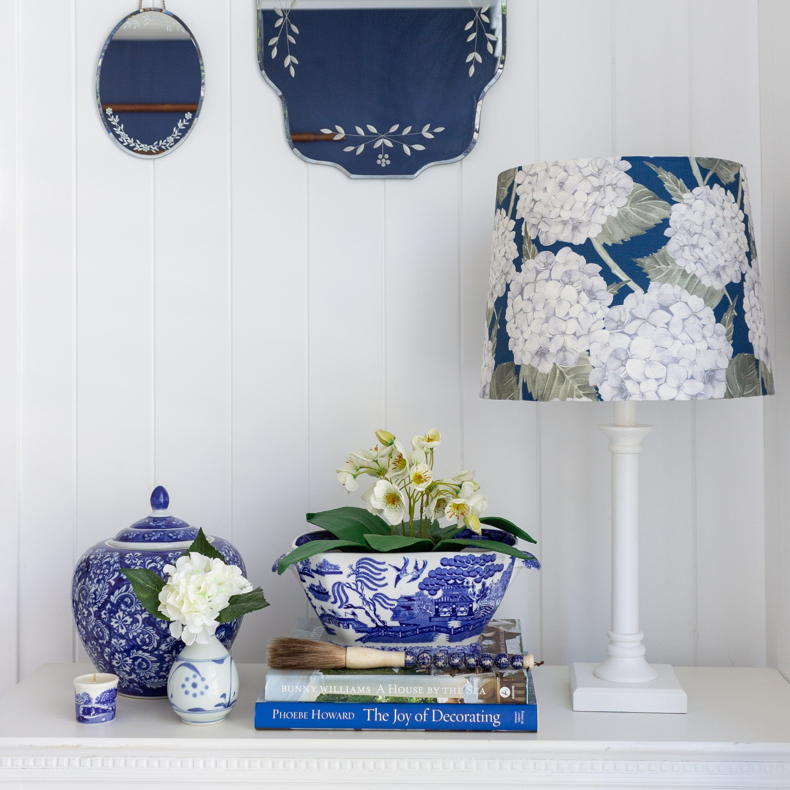 Tapered Lamp Shade Hydrangea Lane Home