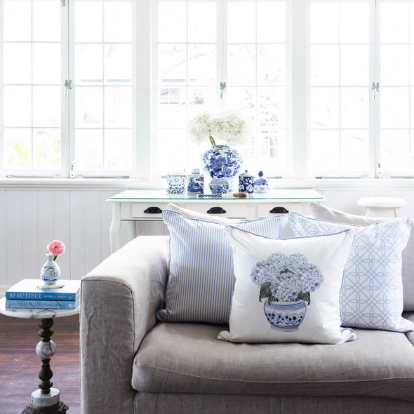 Hydrangea Chinoiserie Cushion