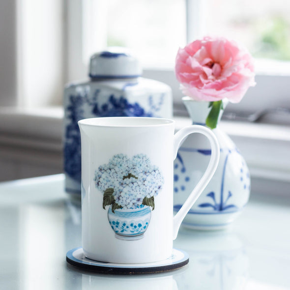 Hydrangea fine bone china cup