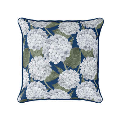 Hydrangea Flower piped cushion
