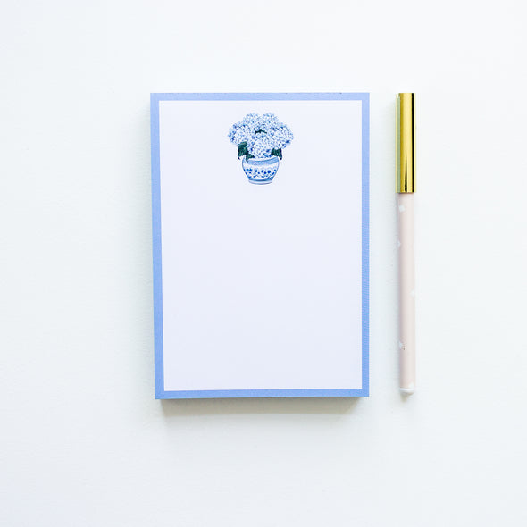 Hydrangea To Do List Notepad Chinoiserie