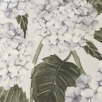 Blue Hydrangea Garden printed cotton linen fabric