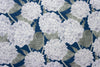 blue hydrangea linen cotton fabric